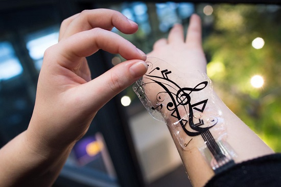 Flexible sensors turn skin into a touch-sensitive interaction space for mobile devices - healthinnovations